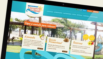 Site Encontro das Águas Pousada Encontro das Águas