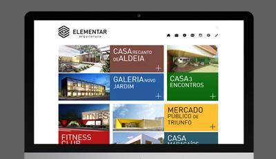 Site Elementar da Elementar Arquitetura