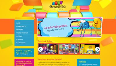 Site Amarelinha Festas da Amarelinha Buffet Infantil