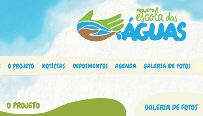 Hotsite Projeto Escola das Águas Chapada
