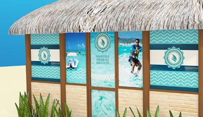 Sinalização Quiosque Náutica Salinas Salinas do Maragogi Resort
