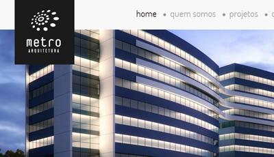 Site Institucional da Metro Arquitetura Metro Arquitetura
