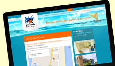 Site Institucional da Pousada Vivenda dos Corais Vivenda dos Corais
