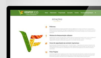 Site Vegfest 2015 da SVB - Sociedade Vegetariana Brasileira