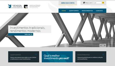 Site Institucional Veneza Investimentos da Veneza Investimentos
