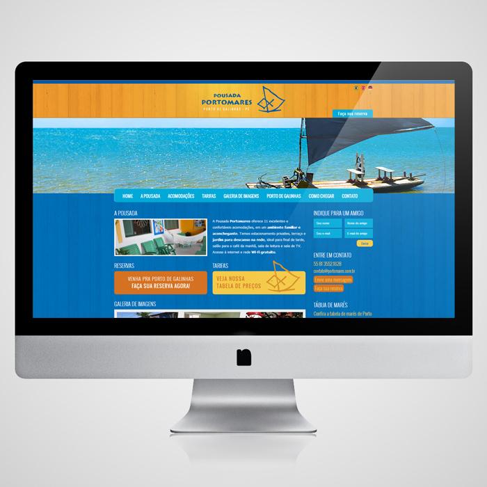 Website Pousada Portomares | Porto de Galinhas
