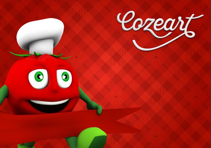 Mascote e marca do Empório Cozeart