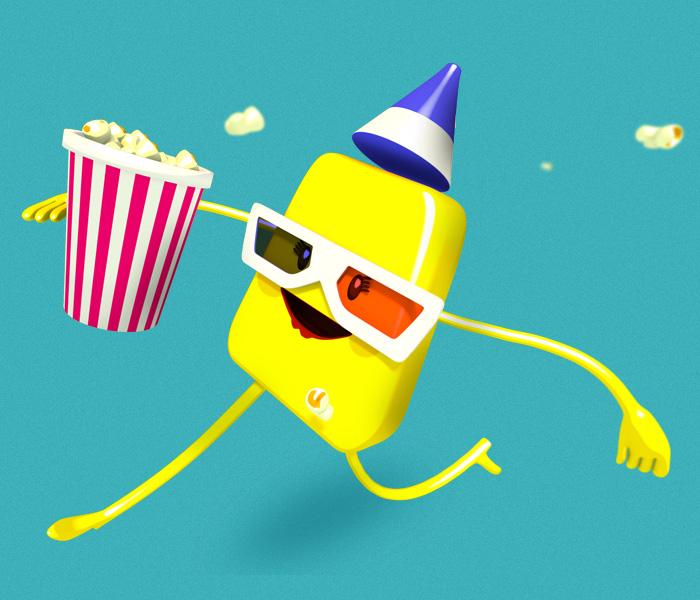 Mascote 3D Amarelinha | Buffet Infantil