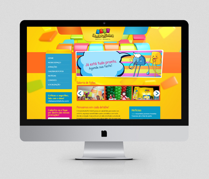 Website Amarelinha | Buffet Infantil