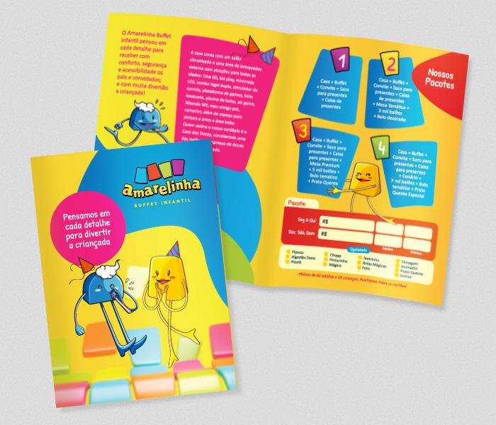 Folder Amarelinha | Buffet Infantil