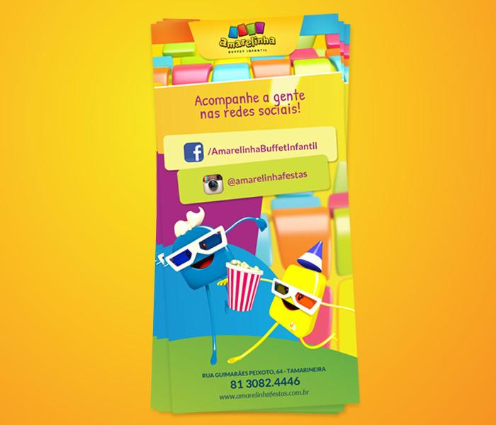 Panfleto Redes Sociais - Amarelinha | Buffet Infantil