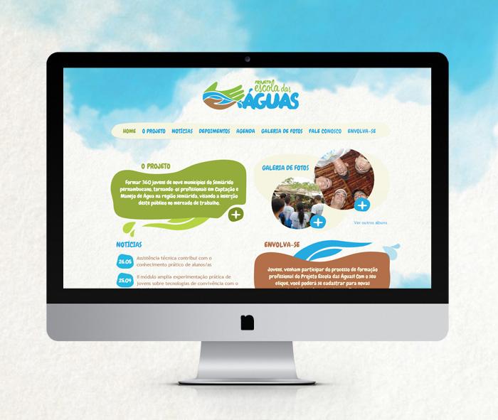 Hotsite Projeto Escola das Águas | ONG Chapada