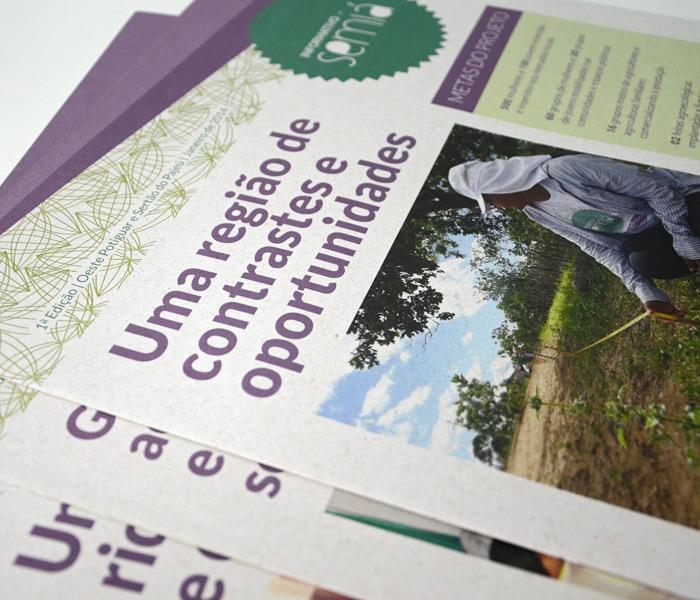 Informativo Semiá / Projeto Editorial e Diagramação de jornal