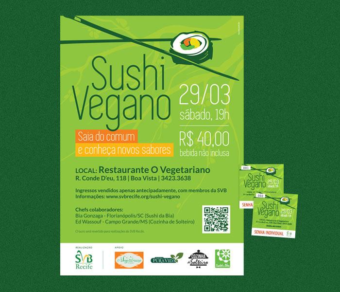 Cartaz e senha individual | Sushi Vegano SVB