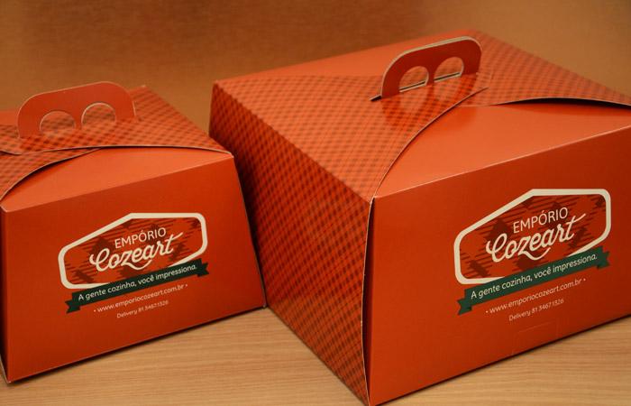 Design de embalagens para tortas doces | Empório Cozeart