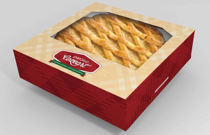 Design de embalagem para tortas salgadas | Empório Cozeart