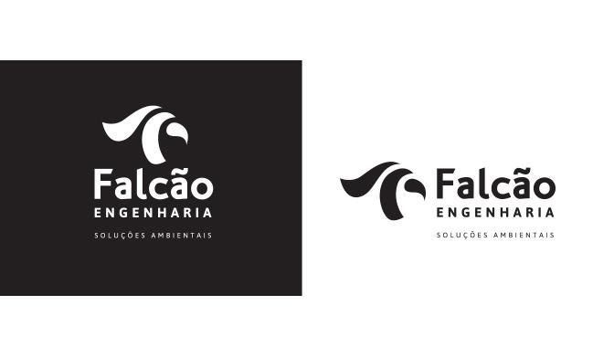 Logotipo em positivo e negativo